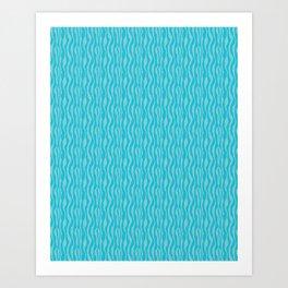 Blue Zeba Animal Print Pattern Art Print