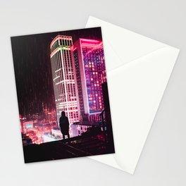 City Hall Rainy Night Stationery Cards
