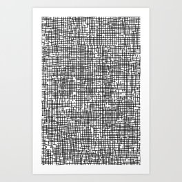 Crosshatch Art Print