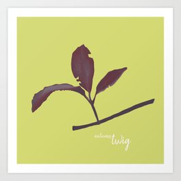 Small red branch Art Print