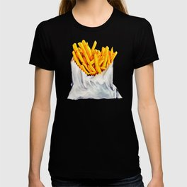 French Fries Pattern T-shirt