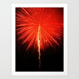 d'explosion Art Print