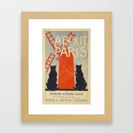 ABOUT PARIS VINTAGE POSTER Framed Art Print