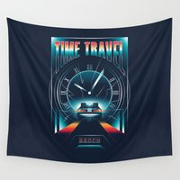 mcfly Wall Tapestries featuring Time Travel by Steven Toang
