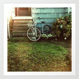la bicyclette bleu Art Print