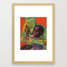Feeding Framed Art Print