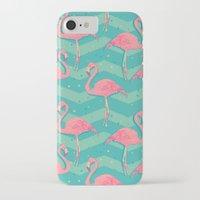 flamingo iPhone & iPod Cases featuring Flamingo by Julia