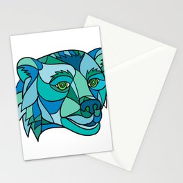 Grizzly Bear Head Mosaic Stationery Cards
