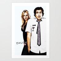 chuck Art Prints featuring Chuck by SyafSyaf
