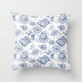 Afternoon Tea Picnic Throw Pillow