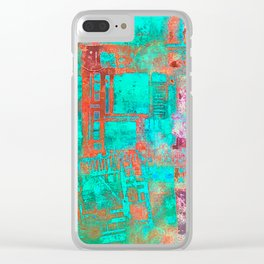 Abstract Ladder Clear iPhone Case
