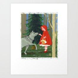 little red riding pig Art Print
