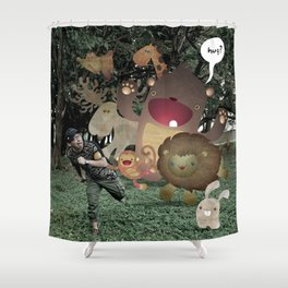 Zoophobia Shower Curtain
