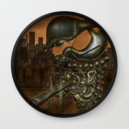 Fear plays an interesting role in our lives II Wall Clock