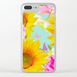 Summer Vibes With Colorful Flowers #decor #society6 #buyart Clear iPhone Case