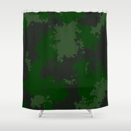 Camouflage jungle 1 Shower Curtain
