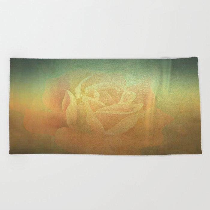 Evening Rose Shadows Beach Towel