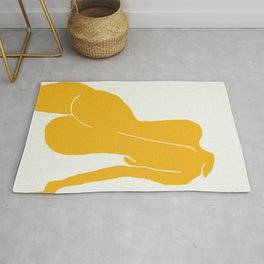 Nude in yellow Rug