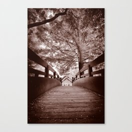 Sepia Bridge Canvas Print