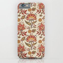 Indian Paisley pattern iPhone Case
