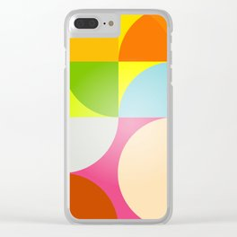 mid century modern geometry Clear iPhone Case