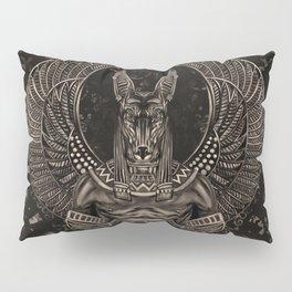 Anubis - Egyptian God Sepia Pillow Sham