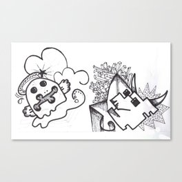 Crazzy I Canvas Print