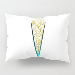 V Shaped Champagne Glasses Pillow Sham