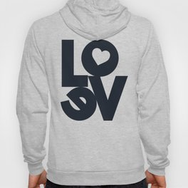Love, tyopgraphy illustration, gift for her, people in love, be my Valentine, Romantic lettering Hoody