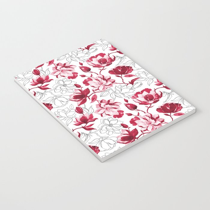 Red Magnolia Notebook