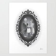 Framed family portrait Art Print