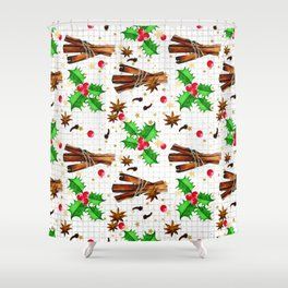 Christmas holly berries #2 Shower Curtain