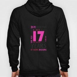 17Th Birthday Shirt Girls Gifts 17 Year Old Daughter Niece Hoody