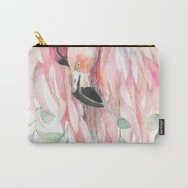 Flamingos in Love Carry-All Pouch