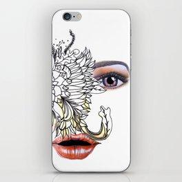 rostros y flores iPhone Skin