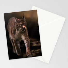 Into The Light - Lynx Art Stationery Cards