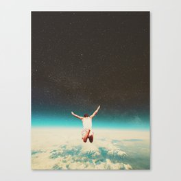 Falling with a hidden smile Canvas Print
