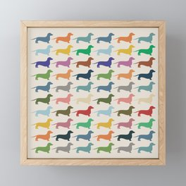 Dachshund Framed Mini Art Print