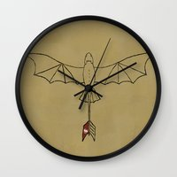 toothless Wall Clocks featuring Toothless by jozi.art