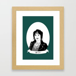Joan Jett Illustrated Portrait Framed Art Print