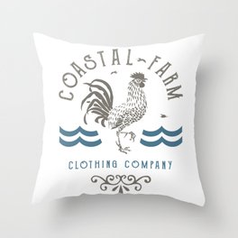 Coastal Farm Clothing Company Throw Pillow