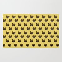 racoon Area & Throw Rugs featuring Wes Racoon by mleko