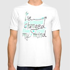 I've Changed My Mind MEDIUM White Mens Fitted Tee