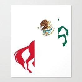 Unicorn Mexico Flag Magical Unicorn Mexican Canvas Print