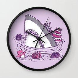 Birthday Princess Shark Wall Clock