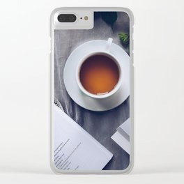 Coffee, Flowers & Poetry For Me, Please Clear iPhone Case