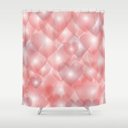 Hearts Aglow Shower Curtain