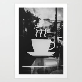 Coffee Time. Coffee Shop Concept. Art Print