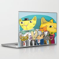 a lot of cats Laptop & iPad Skins featuring Cats on Cats on Cats by ElmWood Grove