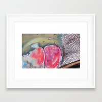 trout Framed Art Prints featuring Trout by Hannah Pink